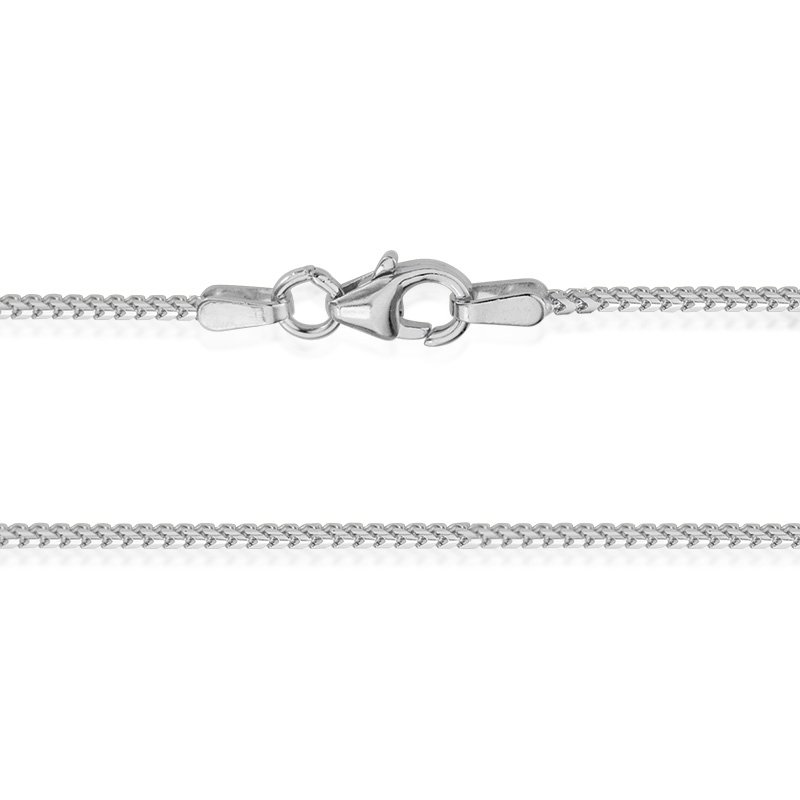 JC Sipe Couture White Gold 1.2mm Franco Chain