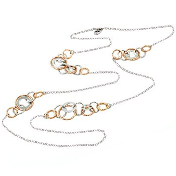 Rose Gold on Sterling Silver Multi Station Necklace