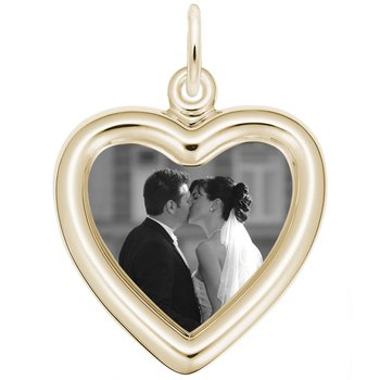 Small Heart PhotoArt Charm