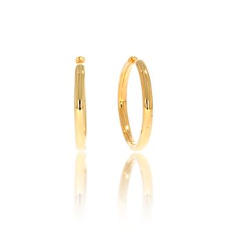 "Yellow Gold Vermeil 1"" Huggy Hoops"