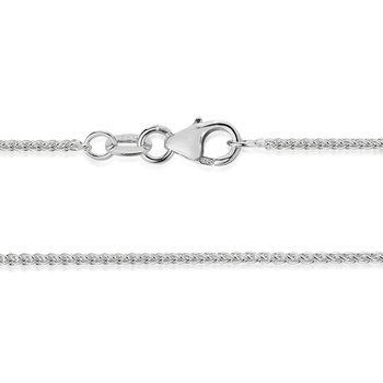 White Gold 1.3mm Wheat Link Chain