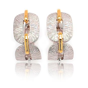 Yellow Gold on Sterling Silver J-Hoop Earrings