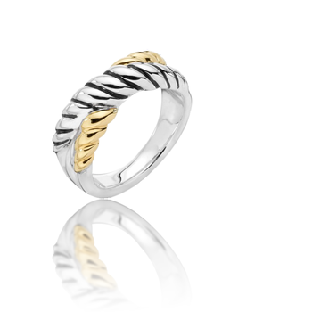 Sterling Silver & 18K Yellow Gold Ring