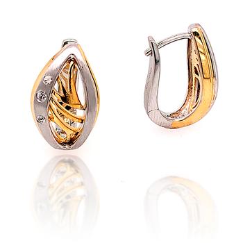 Yellow Gold on Sterling Silver Huggy-J-Hoop Earrings
