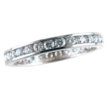 Anniversary Eternity Diamond Ring Platinum