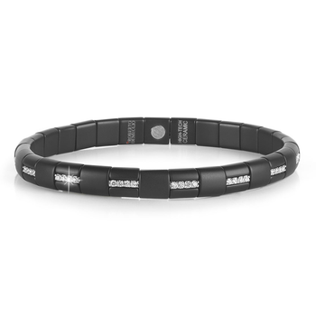 Pura Diamond & Black Matte Ceramic Bracelet