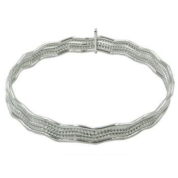 Sterling Silver Magnificent Wave Bracelet