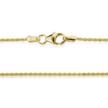 Yellow Gold 1.2mm Wire Rope Chain