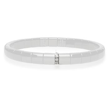 Pura Diamond (1) Diamond & White Ceramic Bracelet