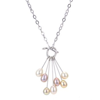 Sterling Silver Exotic Freshwater Lariat Necklace