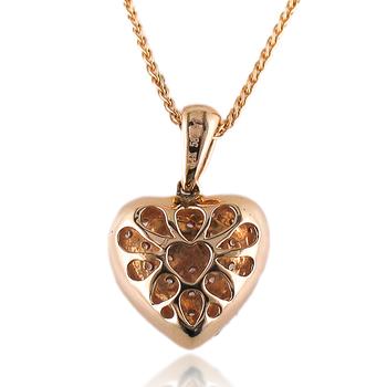 Diamond Pave Heart Pendant 14K Yellow Gold