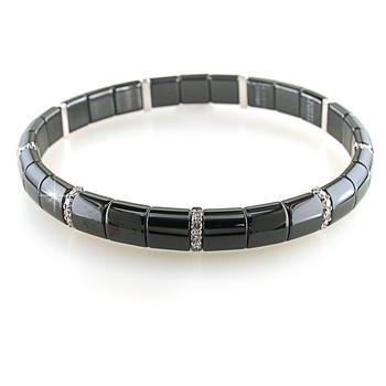 Pura Diamond (9) & Black Ceramic Bracelet