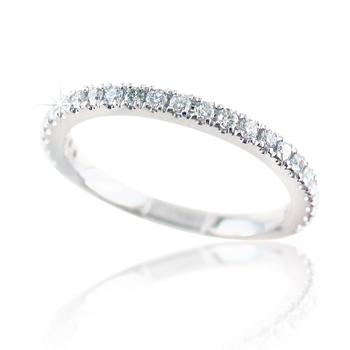 Diamond Wedding Ring Lab-Grown 14K
