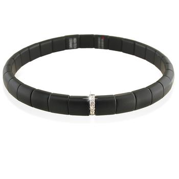 Pura Diamond (1) & Black Matte Ceramic Bracelet