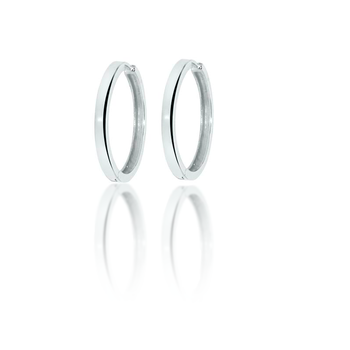 "Sterling Silver .75"" Huggy Hoop Earrings"