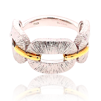Sterling Silver and Gold Vermeil Ring