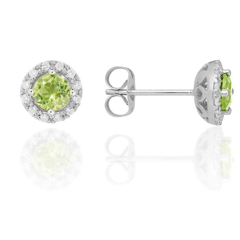 JC Sipe Couture Peridot & Diamond Earrings