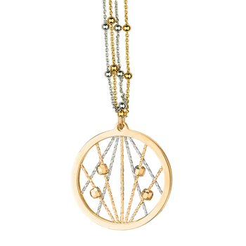 Yellow Gold on Sterling Silver Ophilia Necklace