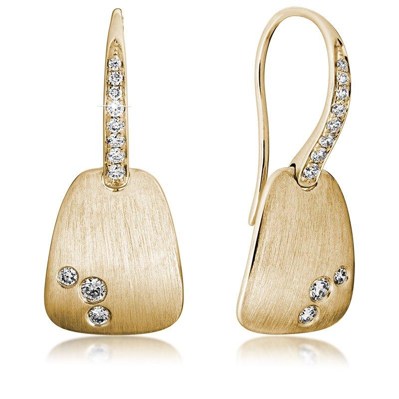 JC Sipe Couture 14K Yellow Gold & Diamond Fashion Earrings