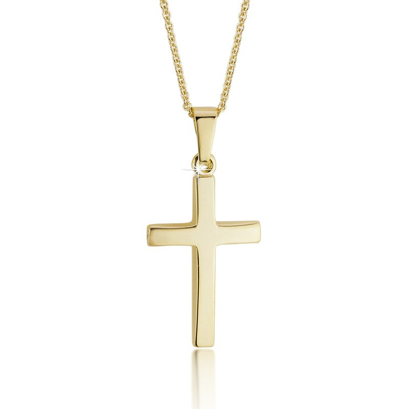 JC Sipe Couture Yellow Gold Cross Pendant