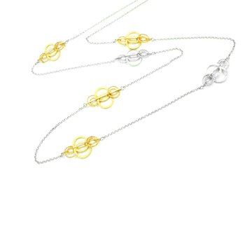 Yellow Gold on Sterling Silver Ooh's Necklace