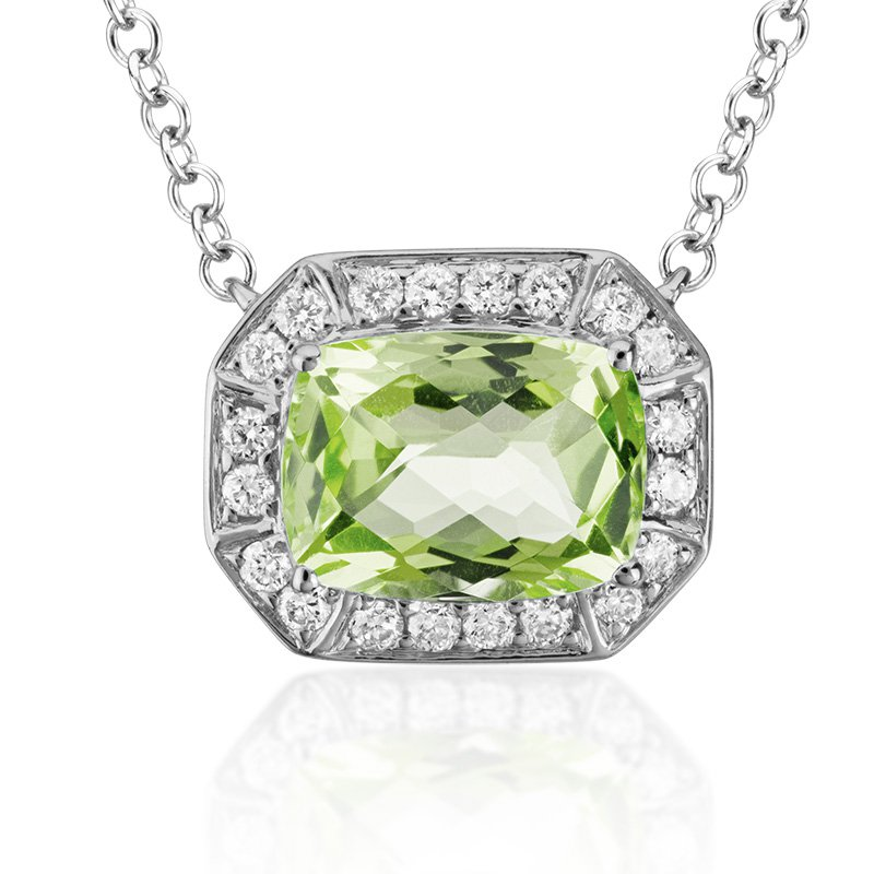 JC Sipe Couture Peridot & Diamond Pendant