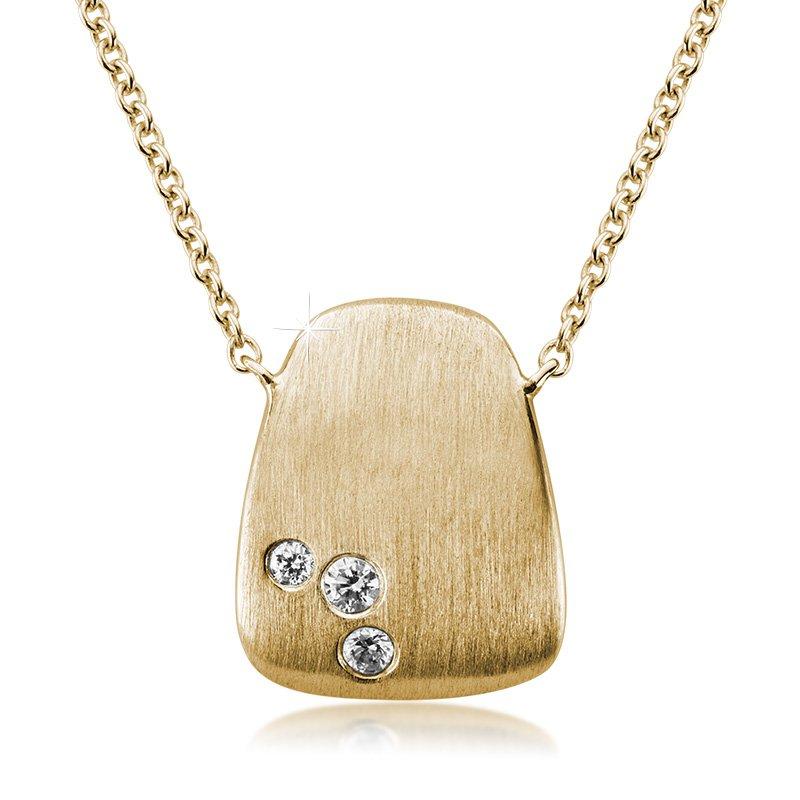 JC Sipe Couture 14K Yellow Gold Diamond Fashion Pendant