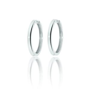 """Sterling Silver 2mm 1.75"""" Huggy Hoop Earrings"""