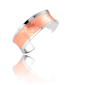 Rose Gold On Sterling Silver Saddle Cuff Bracelet