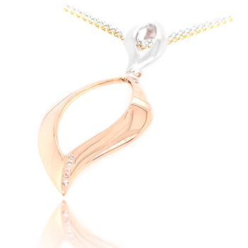 Two Tone Yellow Gold on Sterling Silver Pendant