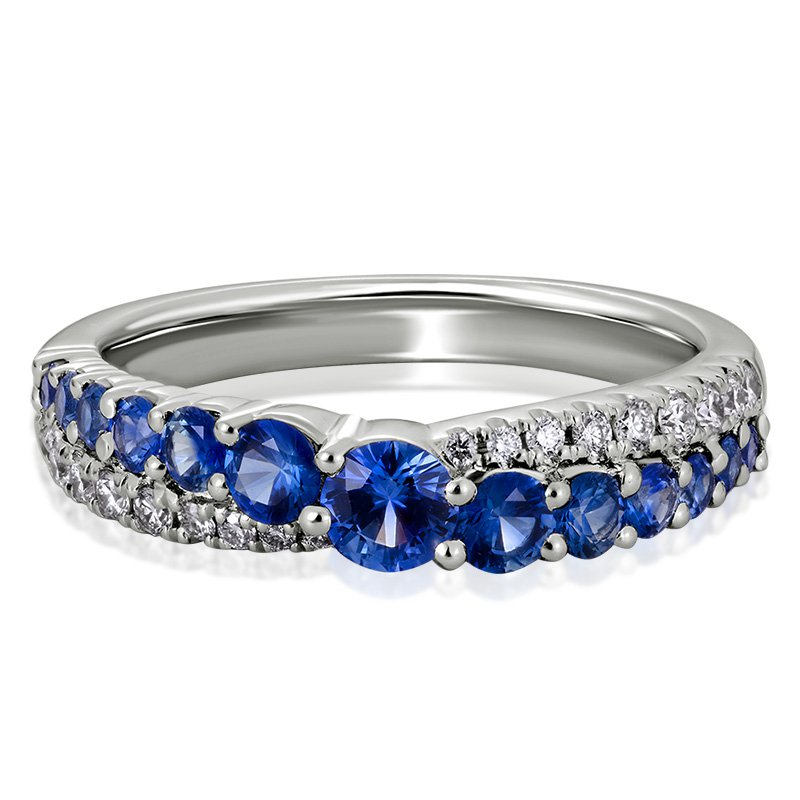 JC Sipe Couture Blue Sapphire & Diamond Ring