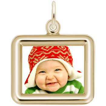 Horizontal Round Corner Rectangle PhotoArt Charm