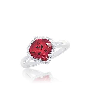 Chatham Ruby Diamond Ring