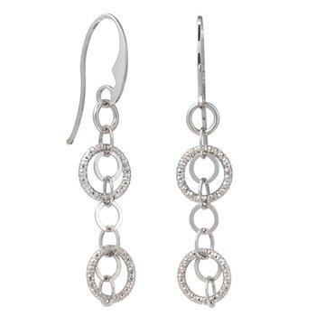 Billowing Rings Sterling Silver Earrings