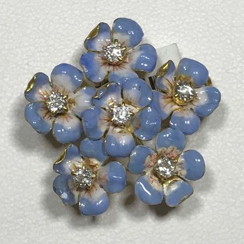 Tiffany & Co. Enamel Brooch