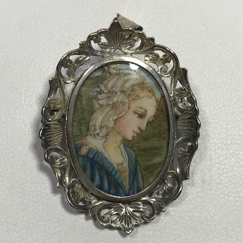 Antique & Estate Silver Pendant/ Brooch