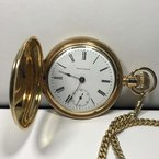 Antique & Estate Double Albert Pocket Watch with Chain