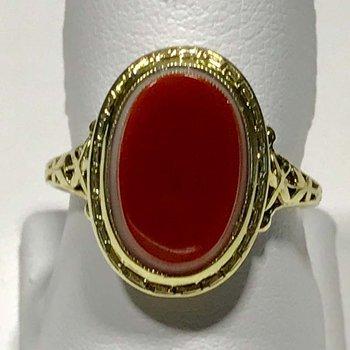 Deco Sardonyx Ring