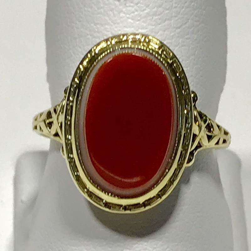 Antique & Estate Deco Sardonyx Ring