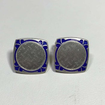 Art Deco Enamel Earrings
