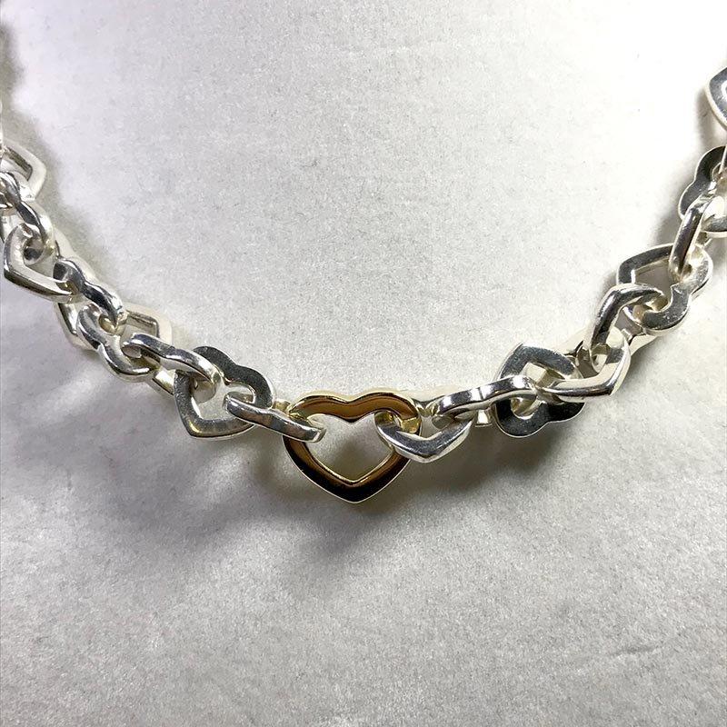 Antique & Estate Tiffany & Co. Heart Link Necklace