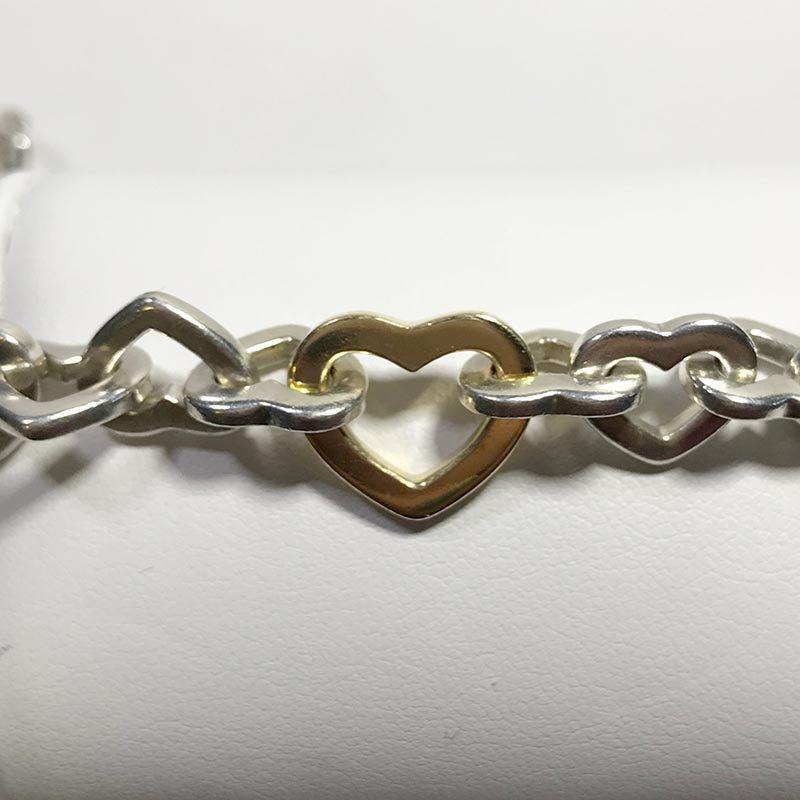 Antique & Estate Tiffany & Co. Heart Link Bracelet