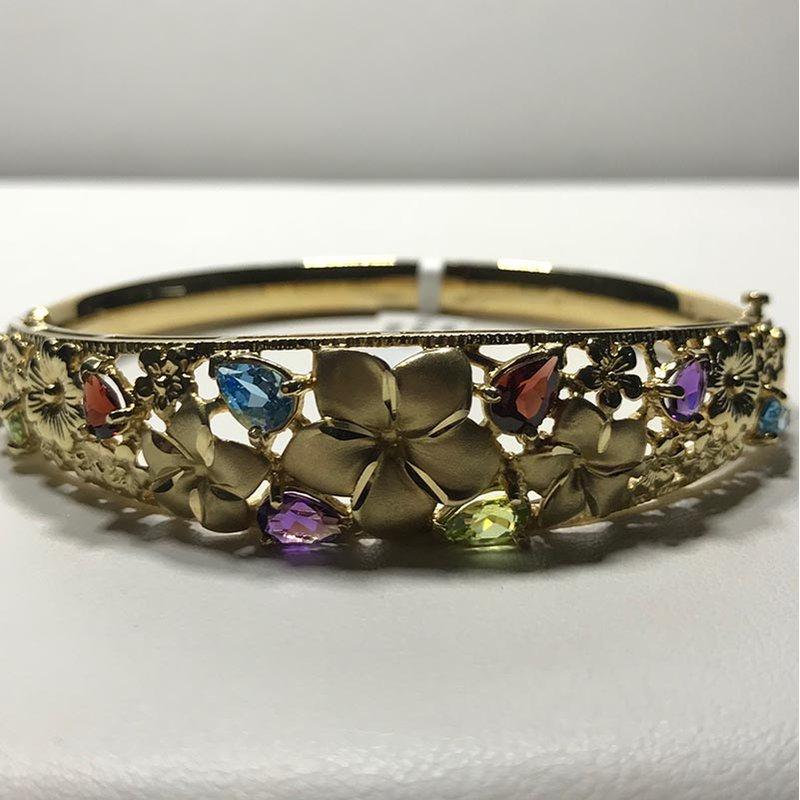 Antique & Estate Multistone Gold Bracelet