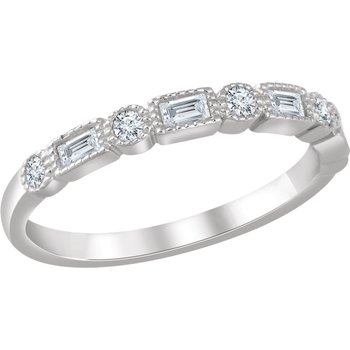 1/4CTW Round & Baguette Diamond Band