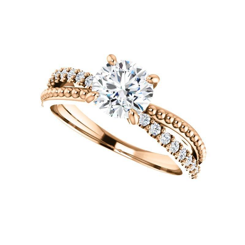 Vivid Jewelers 1/5CTW Diamond Engagement Ring