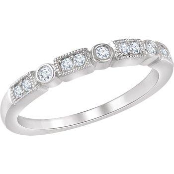 1/6CTW Diamond Wedding Band