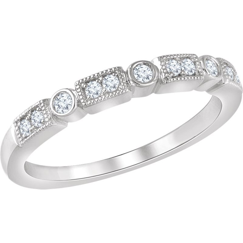 Vivid Jewelers 1/6CTW Diamond Wedding Band