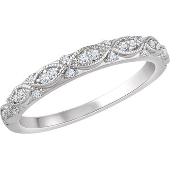 1/8CTW Diamond Wedding Band