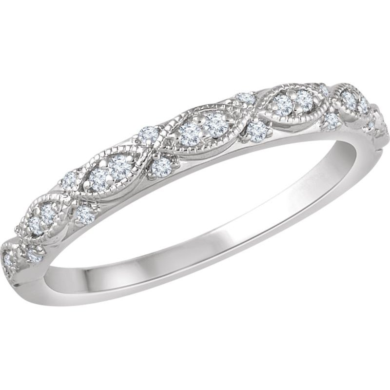 Vivid Jewelers 1/8CTW Diamond Wedding Band