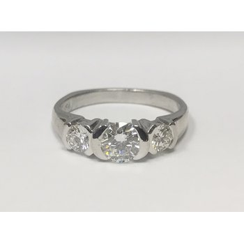 Platinum Walls Moonlight Three Stone Diamond Ring